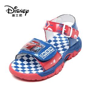 【达芙妮超品日 2件3折】Disney/迪士尼男童休闲凉鞋搭扣露趾儿童凉鞋