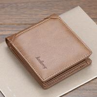男士钱包短款青年驾驶证卡包学生男式皮夹钱夹