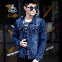 春秋季青年男士牛仔外套男宽松夹克修身帅气韩版上衣潮流学生男装