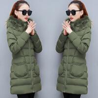 女新款冬装羽绒棉衣女短款韩版大码修身时尚加厚棉袄外套 88军绿 M