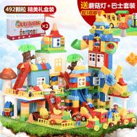 兼容legao儿童大颗粒积木玩具3-6周岁男孩子拼装益智1-2女孩4宝宝