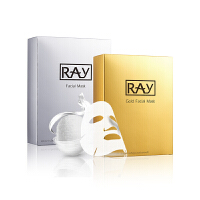Ray 面膜补水保湿蚕丝面膜正品面膜套装 金色10片+银色10片