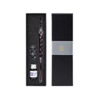 kinbor玻璃笔蘸水笔文具套装(配5ml染料墨水/笔架) 紫DTB90249当当自营