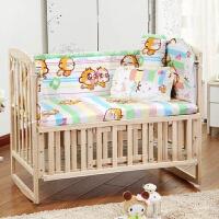 棉料可拆洗床围宝宝床品棉宝宝床围五件套婴儿床防撞防风用品a378zf08