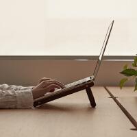 简约木质笔记本支架散热悬空立式托架便携苹果电脑桌面增高架