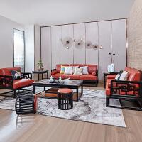 【品牌特惠】现代新中式沙发实木家具组合禅意别墅样板房办公室接待 其他