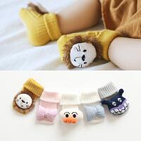 婴儿袜子秋冬男童女童宝宝新生儿童袜春秋季长筒袜儿童地板袜