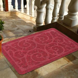 享家白桦雕花除尘防滑入户门垫50*80�M门口垫 地毯 地垫 脚垫 进门地垫