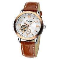 2018年新款 EYKI艾奇 商务时尚皮带表 镂空潮流表 机械表 男士手表 金色 8622