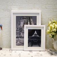 10寸实木质白色相框挂墙A4/A3/16diy创意广告画框摆台像框抖音