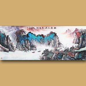 云南省美术家协会会员、著名山水画家徐茂林先生作品――轻舟已过万重山