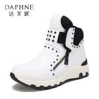 Daphne/达芙妮旗下时尚高帮休闲运动鞋女鞋1117555008-
