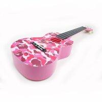 vorson 23寸 粉色迷彩 尤克里里 ukulele 小四弦琴 四弦尤克里里 乌克丽丽 ABS材质 (送:背包+教