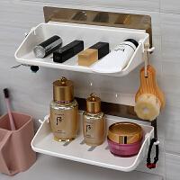 双庆卫生间强力吸盘置物架吸壁式浴室化妆品收纳架厨房厕所免打孔