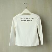 Annil安奈儿--童装官方正品10秋装女童时尚长袖T恤AG031318