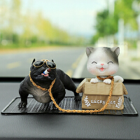 车内饰品摆件摇头猫可爱狗车饰车载车上装饰品创意恶霸犬汽车摆件