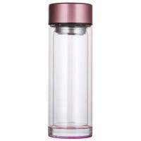 透明水晶玻璃杯双层防烫水杯加厚水晶底男女茶杯