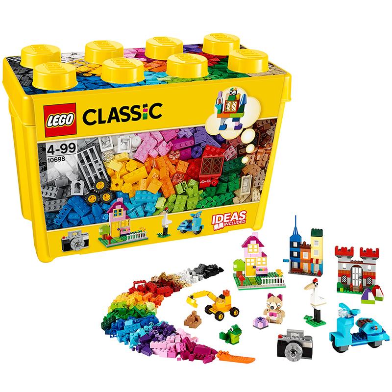 [当当自营]LEGO 乐高 CLASSIC经典创意系列 大号积木盒 积木拼插儿童益智玩具 10698乐高3月份新品 适合4岁上,790pcs 小颗粒积木