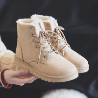 秋冬季新款短筒雪地靴韩版马丁靴女鞋加绒保暖百搭学生棉鞋潮