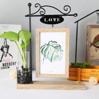 创意相框摆台个性铁艺木质六 可爱ins现代轻奢小摆件水培简约