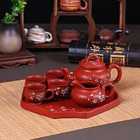 【好店】功夫茶具茶盘套装家用紫砂陶瓷整套茶具大茶壶茶杯防烫创意泡茶具