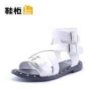 鞋柜&迪士尼 夏季新款蝴蝶�Y水�@女童鞋卡通米妮�鲂�