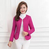 棉衣女短款冬季新款韩版学生轻薄小棉袄修身圆领外套保暖内胆