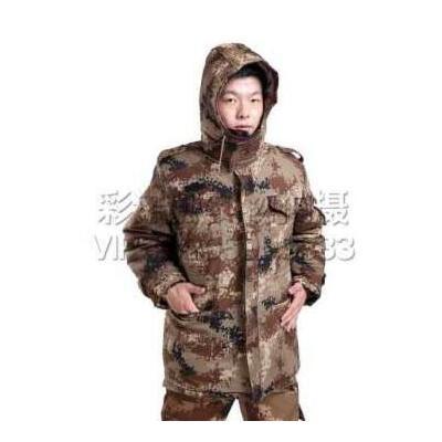 特种户外冬季防寒棉大衣 迷彩大衣 冬季保暖防风加厚男士户外运动军迷服饰 荒漠迷彩大衣 荒漠迷彩大衣 165cm 在线支付发顺丰,下单送棉袜2双