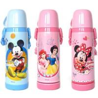 包邮!迪士尼 Disney  3410抽真空学生水壶 不锈钢儿童米奇保温杯450ml 多款选!