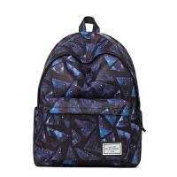 印花双肩包女包学生书包电脑背包