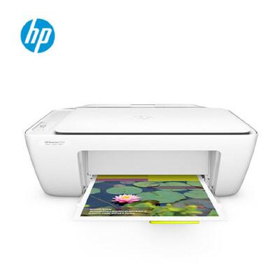 hp惠普Deskjet 2132 彩色喷墨一体机(打印/复印/扫描) A4幅面/标配黑彩双墨盒 HP惠普一体机1510升级款,学生打印作业超值之选 家庭SOHO好伙伴·经济简单耐用