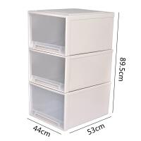 抽屉式收纳柜子特大号收纳箱透明加厚塑料衣服整理箱储物箱家用柜 促销收纳柜