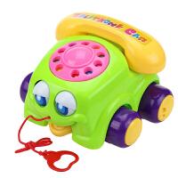 宝宝学步拖拉玩具 拉线大眼睛电话 手推拉绳 婴儿6月-3岁