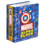 英文原版 Marvel Alphablock 漫威字母块:漫威电影宇宙从A到Z 儿童趣味识字 纸板书