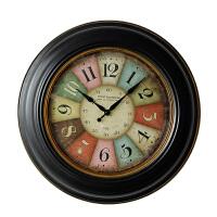 欧式田园复古挂钟 客厅卧室创意家居装饰挂件 个性静音挂钟装饰品