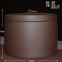 茶�~罐紫砂大�茶缸�b七�茶罐存�ζ斩�茶盒罐桶陶瓷密封家用防潮