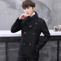 秋冬季立领短款小风衣男韩版西装冬装毛呢子外套青年帅气潮流大衣