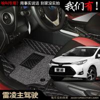2017款广汽丰田雷凌脚垫1.2t双擎185t专用全包围汽车脚垫丝圈防水