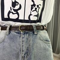 复古学生小皮带简约百搭韩版衬衫装饰细腰带配裙chic女士牛仔裤带