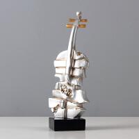 小提琴装饰品摆件北欧简约现代家居饰品客厅电视柜书架工艺品摆设