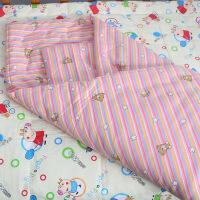 初生婴儿新生儿纯手工棉花小被子宝宝包被盖被毯纯棉秋冬加厚定制 粉色条纹8两 100cm*100cm