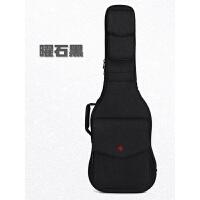 尚音个性摇滚加厚电吉他包背包电吉他琴盒防水琴包吉他袋套 电吉他包 曜石黑