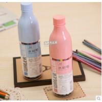 开学必备文具 创意文具真彩漂流瓶水彩笔 儿童学生用可水洗水彩笔 塑料瓶装 绘画笔