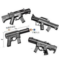 男孩儿童软弹枪合金软可发射小迷你沙鹰玩具枪水晶弹 SY035A枪合金枪(款式随机)/把