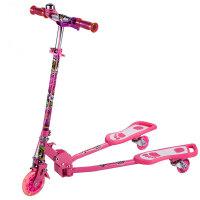 小丽明 男女儿童蛙式滑板车扭妞车三轮踏板车蛙式车可折叠PU闪光轮XLM-902A