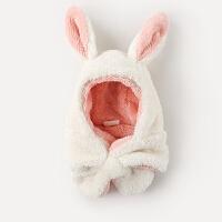 宝宝帽子秋围巾围脖一体婴幼儿男童女童婴儿帽子秋冬季儿童护耳帽MYZQ55
