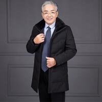 中老年棉衣男装棉袄老年人棉衣冬装外套加厚中年爸爸装中长款