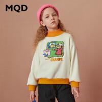 【折后券后�A估�r:112】MQD童�b女童加厚加�q立�I�l衣2020冬�b�和�保暖��松半高�I�l衣潮