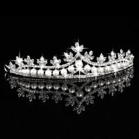 儿童发饰 儿童皇冠头饰公主发箍王冠女童发饰水钻王冠演出配饰MYZQ53 银色