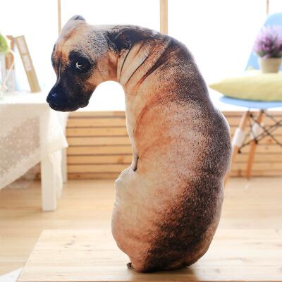 办公室午休靠枕抖音同款3D仿真狗狗抱枕长条枕头创意搞怪办公室汽车沙发靠枕靠垫